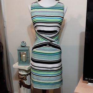Beautiful Dressbarn Petites Striped Dress